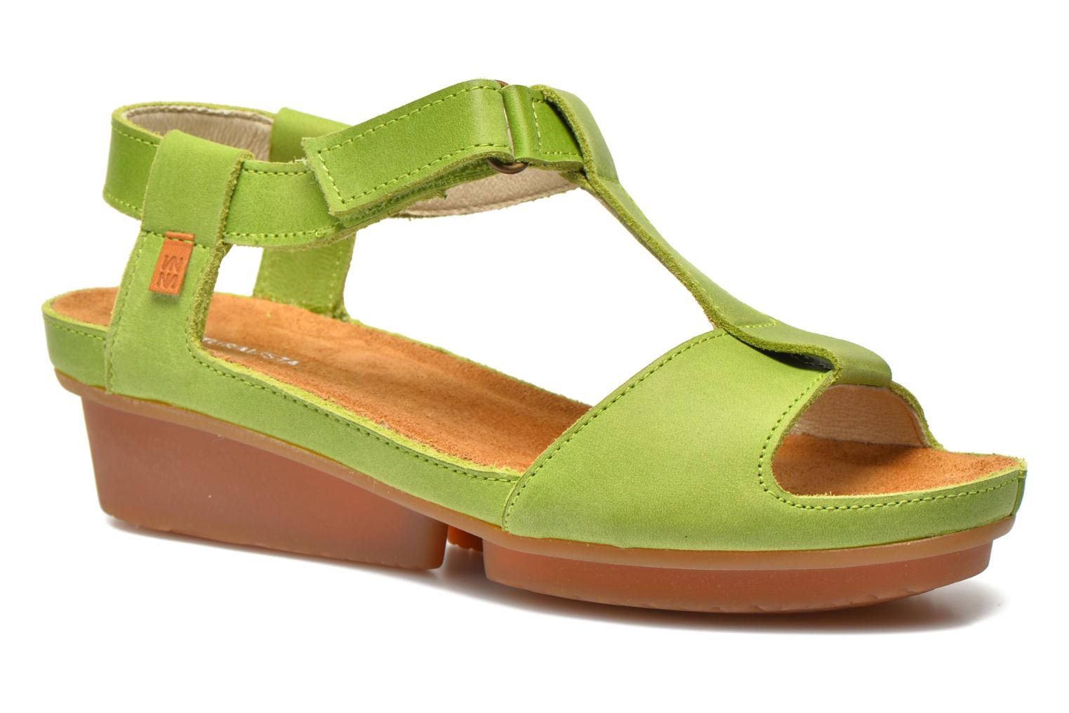 Sandals El Naturalista Code ND21 Green detailed view/ Pair view
