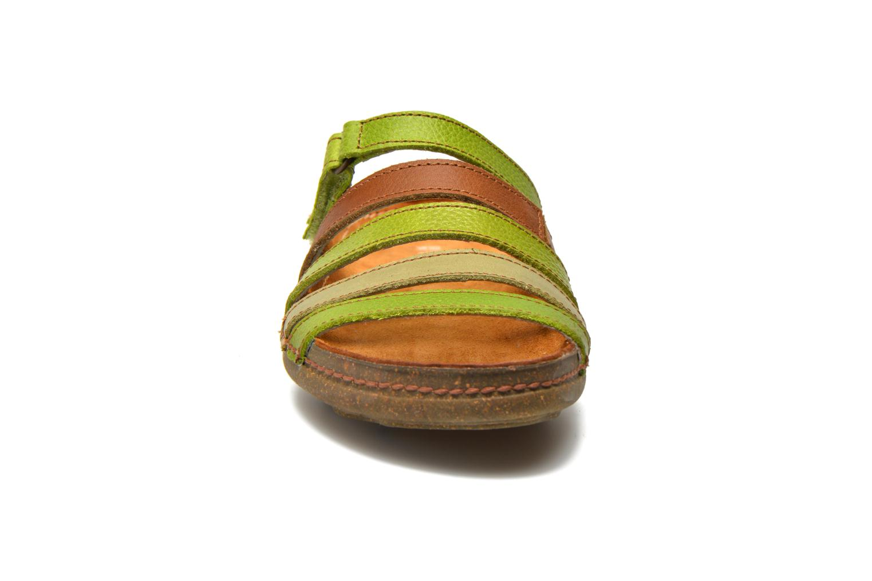 Mules et sabots El Naturalista Torcal N327 Vert vue portées chaussures