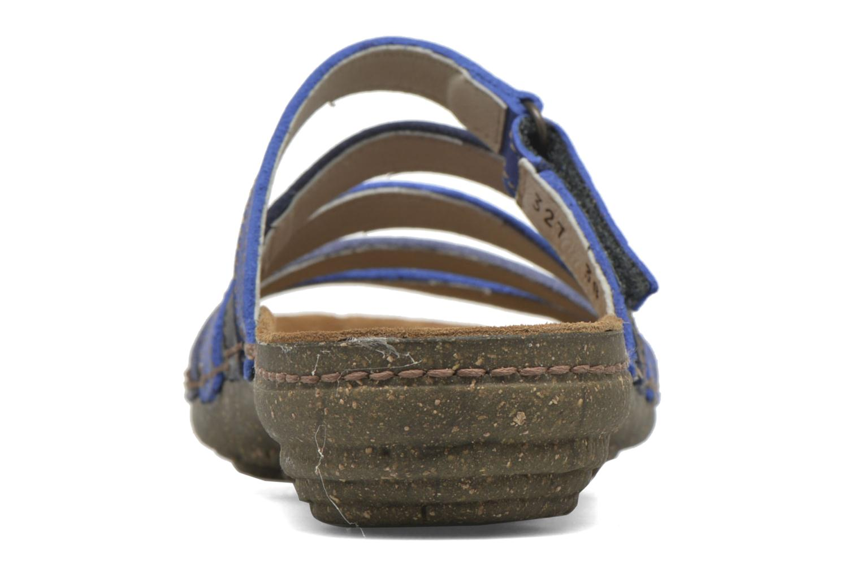 Mules et sabots El Naturalista Torcal N327 Bleu vue droite