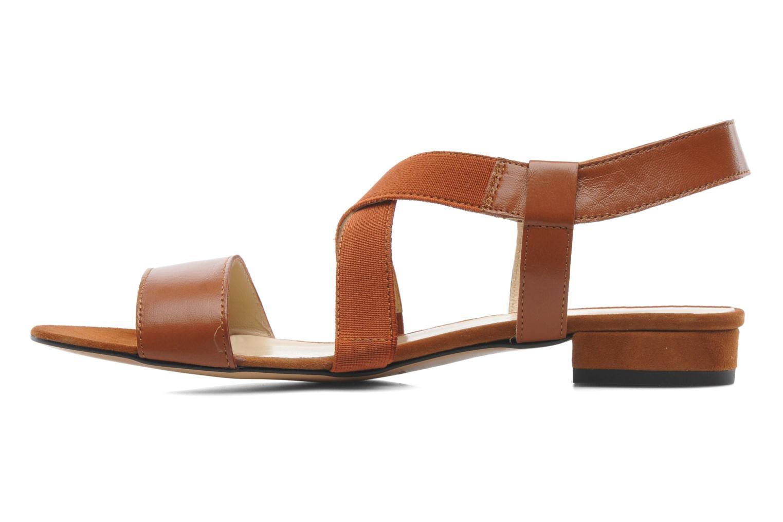 Sandales et nu-pieds Georgia Rose Sahun Marron vue face