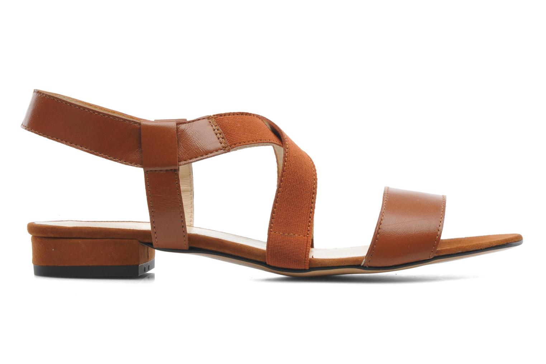 Sandales et nu-pieds Georgia Rose Sahun Marron vue derrière