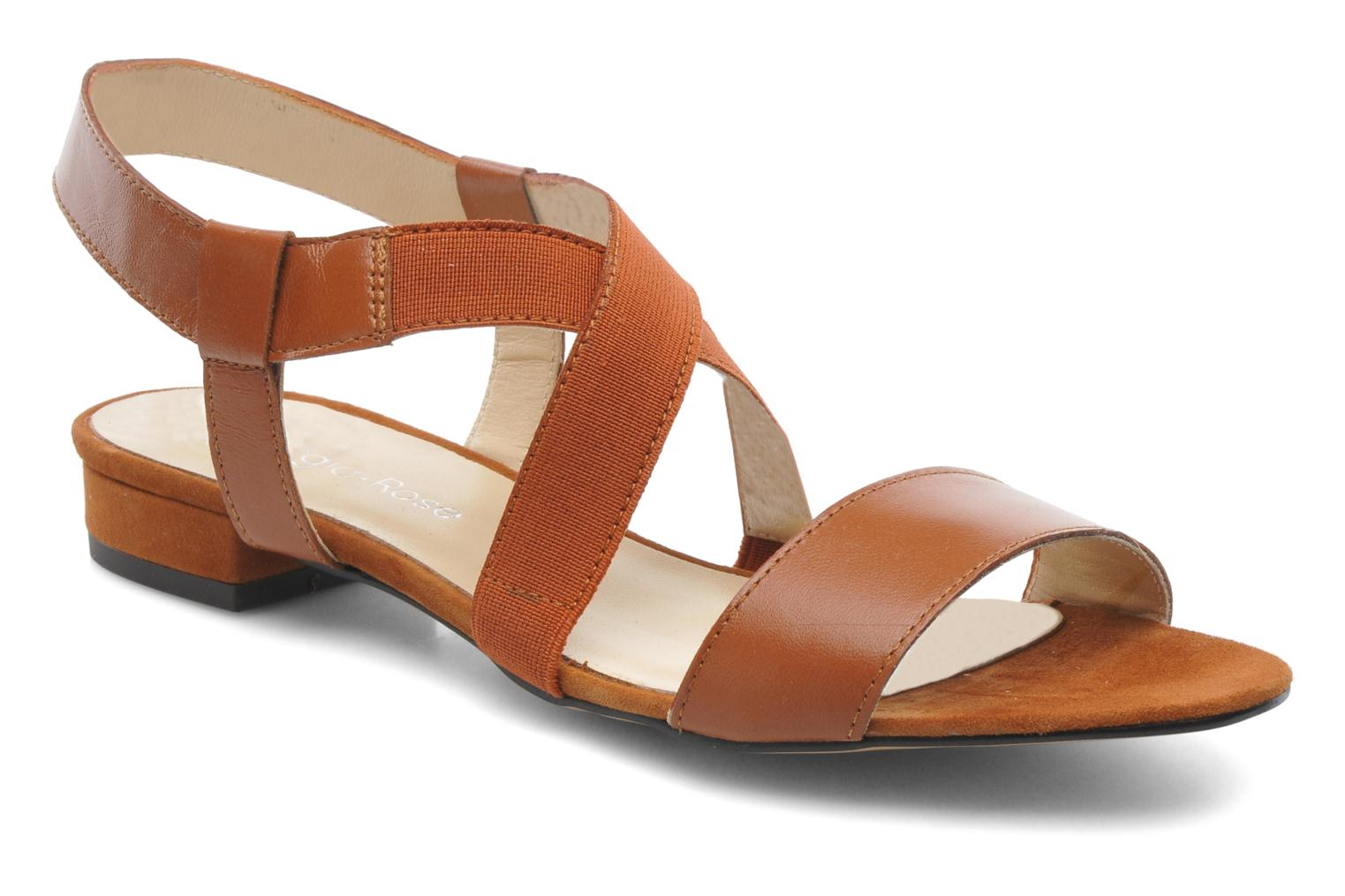 Sandals Georgia Rose Sahun Brown detailed view/ Pair view