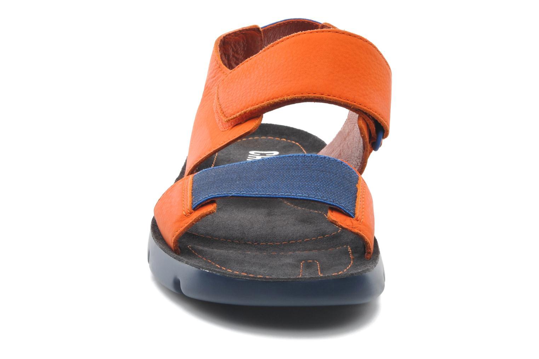 Sandalen Camper Oruga 18941 orange schuhe getragen