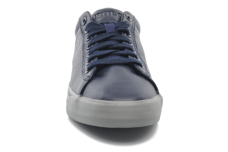 Baskets Polo Ralph Lauren Harvey Leather Bleu vue portées chaussures