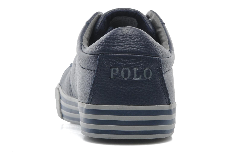 Baskets Polo Ralph Lauren Harvey Leather Bleu vue droite