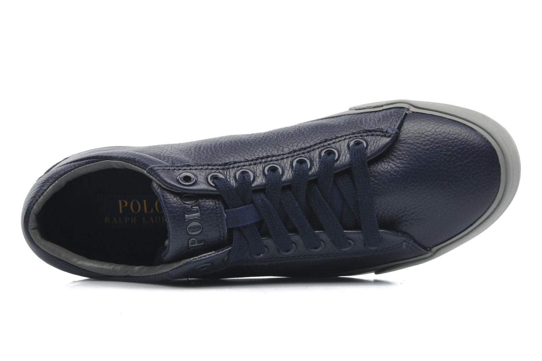 Baskets Polo Ralph Lauren Harvey Leather Bleu vue gauche