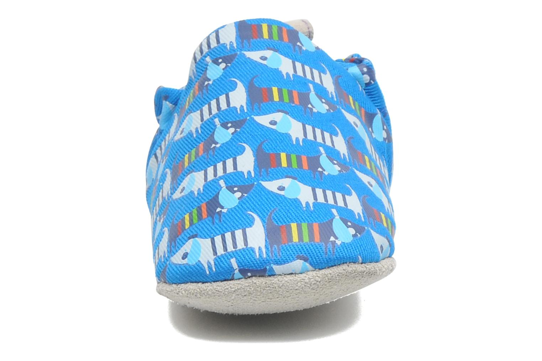 Pantofole Poco Nido RAINBOW SAUSAGE DOG Azzurro modello indossato