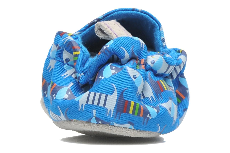 Pantofole Poco Nido RAINBOW SAUSAGE DOG Azzurro immagine destra