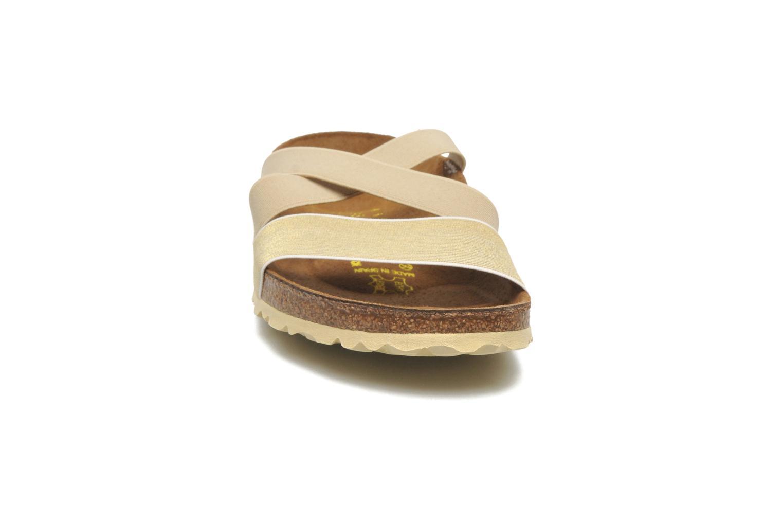 Clogs & Pantoletten Papillio Cosma Textile beige schuhe getragen