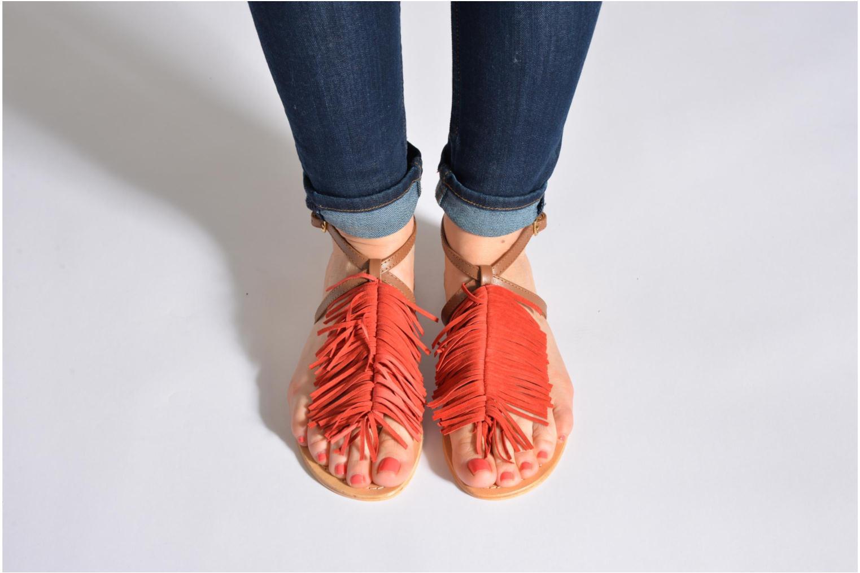 Sandales et nu-pieds Tormaline Playa Rouge vue bas / vue portée sac