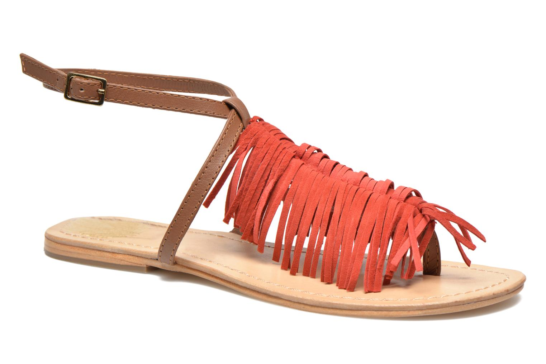 Sandals Tormaline Playa Red detailed view/ Pair view