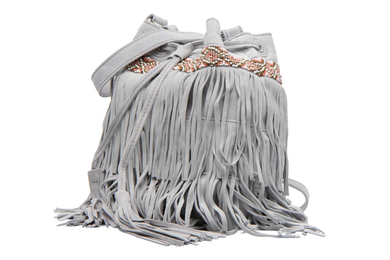 Handtaschen Pieces Jolly suede Tighten bag grau schuhe getragen