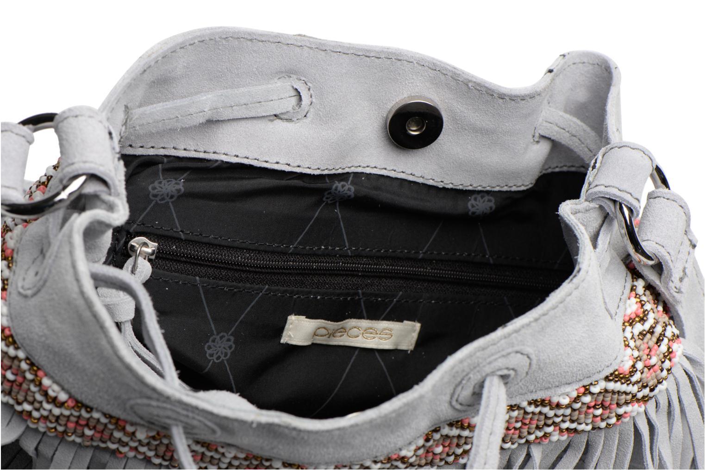Handtaschen Pieces Jolly suede Tighten bag grau ansicht von hinten
