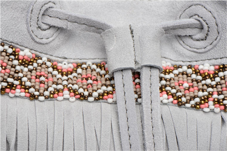 Handtaschen Pieces Jolly suede Tighten bag grau ansicht von links