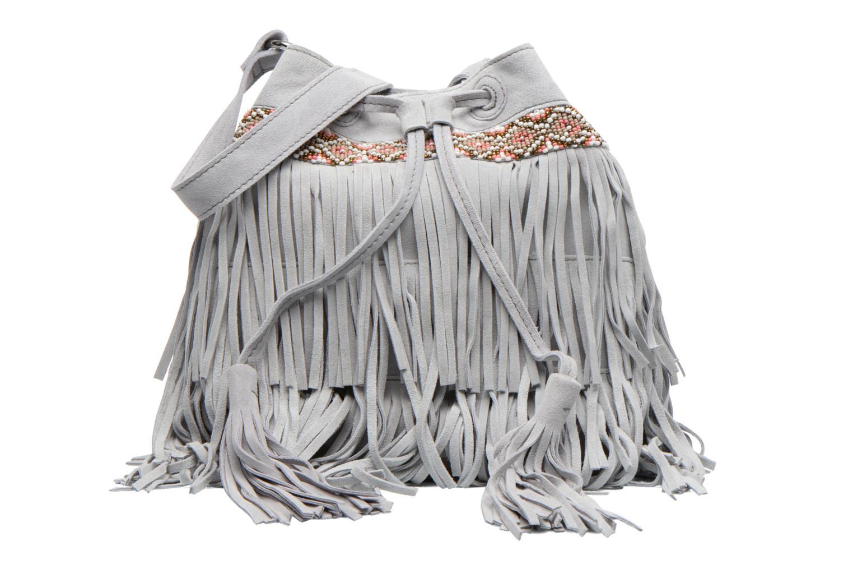 Handtaschen Pieces Jolly suede Tighten bag grau detaillierte ansicht/modell