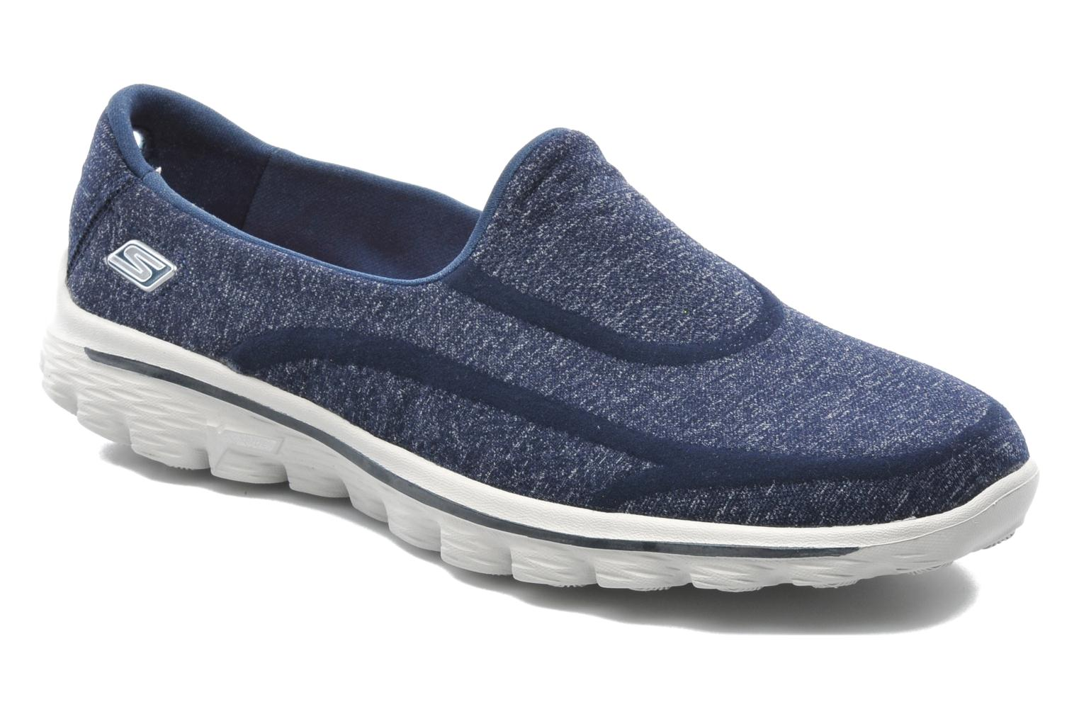 Baskets Skechers Go Walk 2 Super Sock 13955 Bleu vue détail/paire