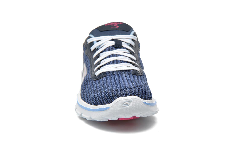 Baskets Skechers Go Walk 3 FitKnit 13981 Bleu vue portées chaussures