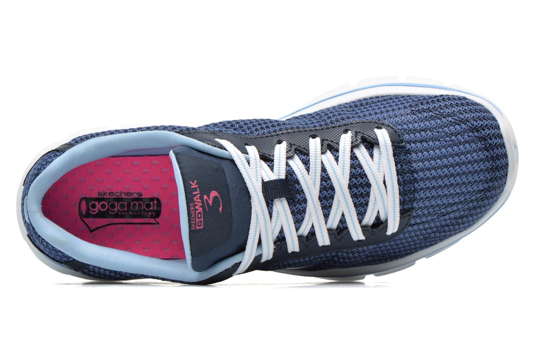 Baskets Skechers Go Walk 3 FitKnit 13981 Bleu vue gauche