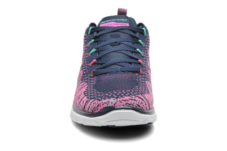 Baskets Skechers Flex Appeal Talent Flair 12059 Rose vue portées chaussures