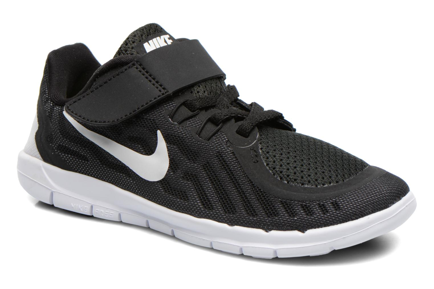 NIKE FREE 5 (PSV) BLACK/WHITE-DARK GREY-CL GREY