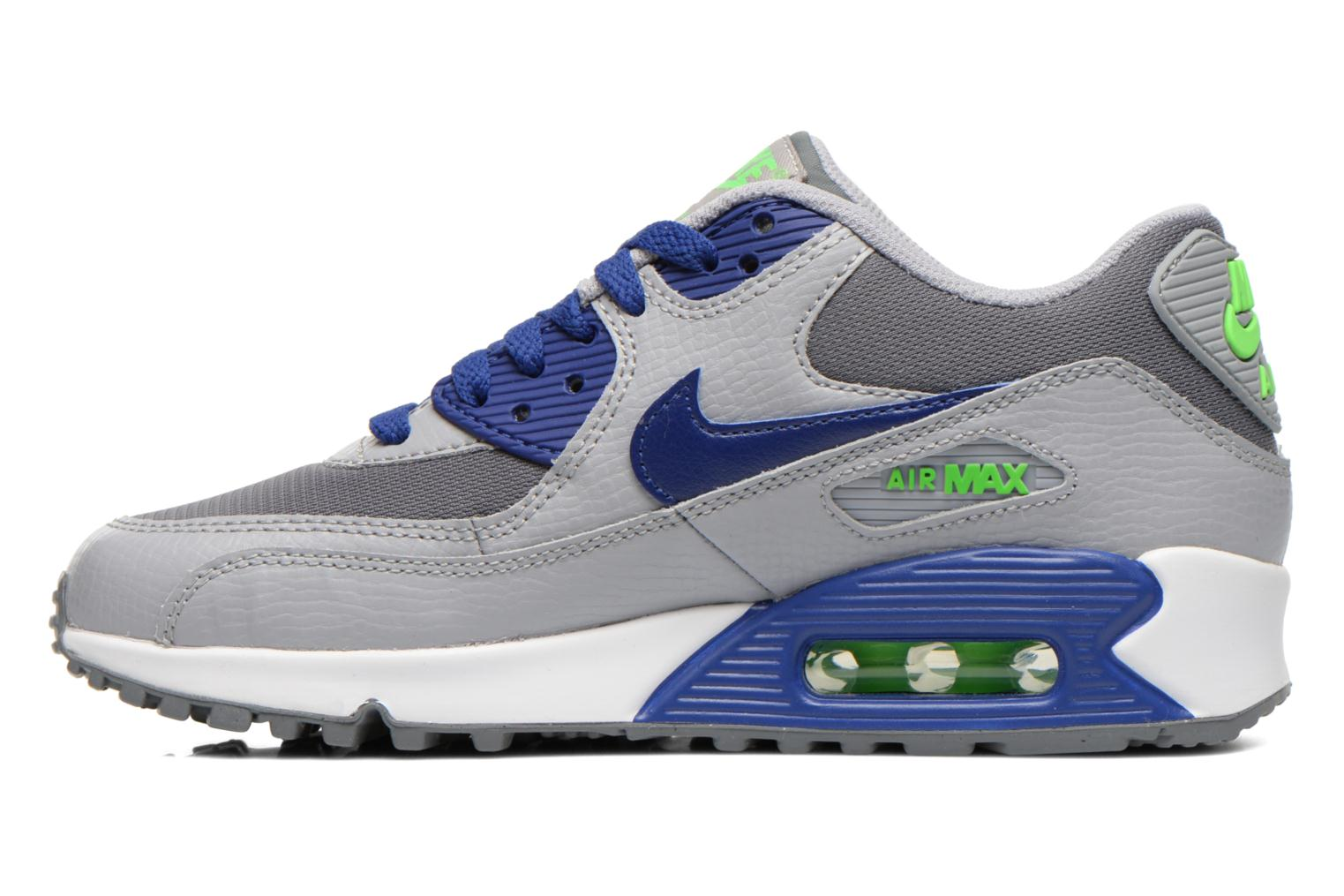Wolf Grey/Binary Blue-Comet Blue-White Nike NIKE AIR MAX 90 MESH (GS) (Bleu)