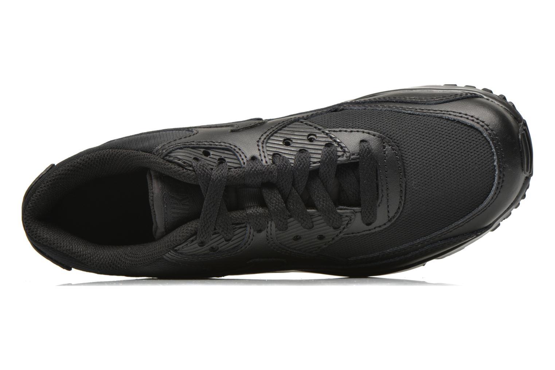 Sneakers Nike NIKE AIR MAX 90 MESH (GS) Zwart links