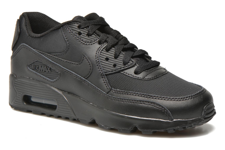 Baskets Nike NIKE AIR MAX 90 MESH (GS) Noir vue détail/paire