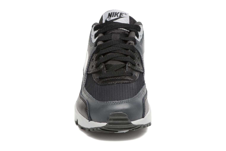 Sneaker Nike NIKE AIR MAX 90 MESH (GS) schwarz schuhe getragen