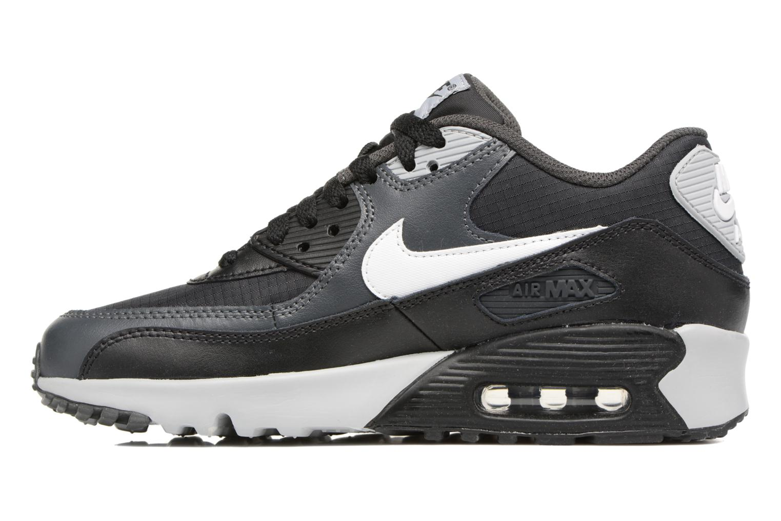 Baskets Nike NIKE AIR MAX 90 MESH (GS) Noir vue face