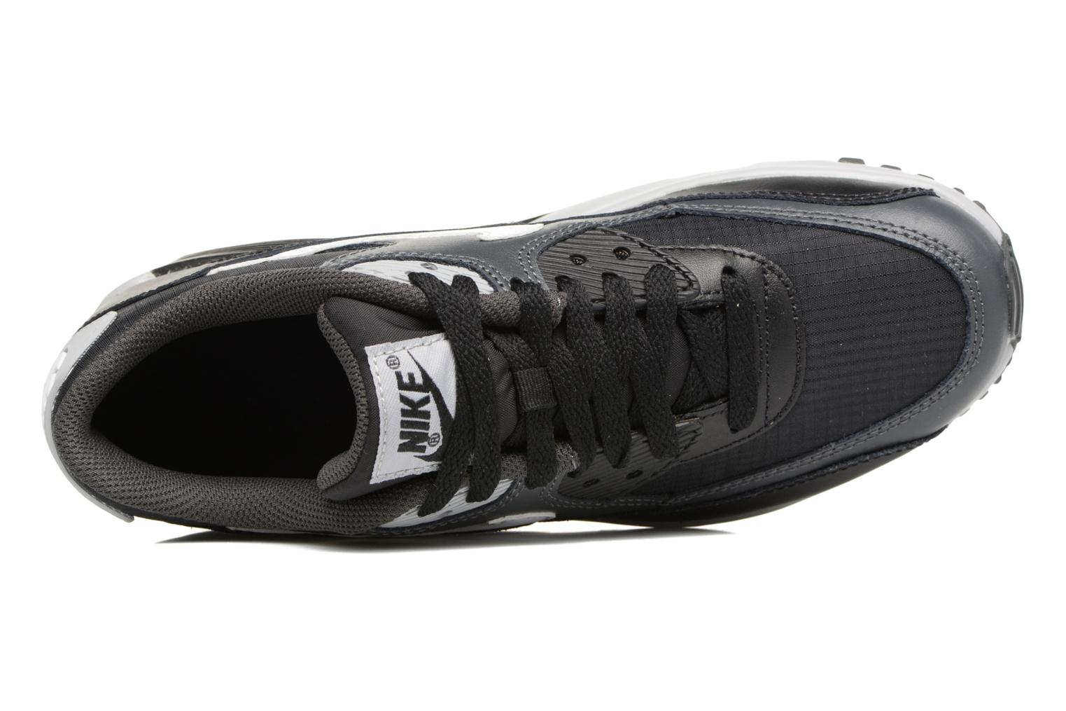 Trainers Nike NIKE AIR MAX 90 MESH (GS) Black view from the left
