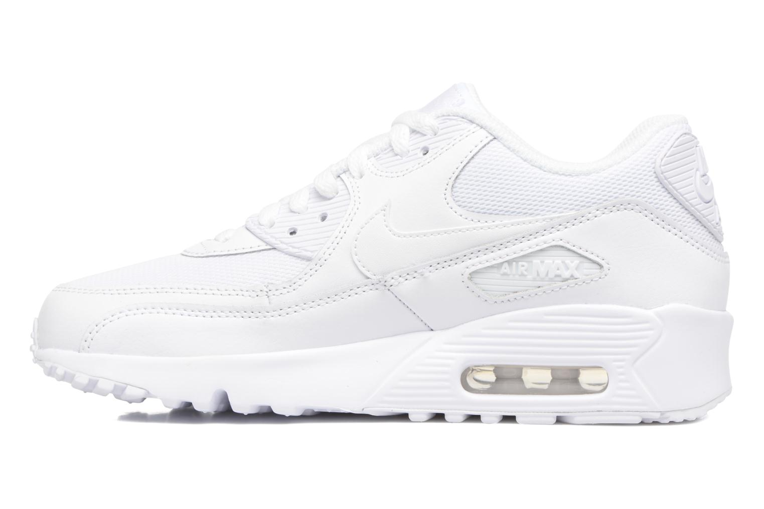 Baskets Nike NIKE AIR MAX 90 MESH (GS) Blanc vue face