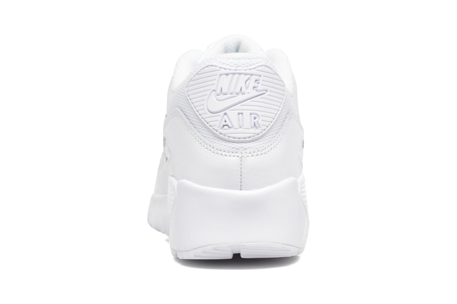 Trainers Nike NIKE AIR MAX 90 MESH (GS) White view from the right
