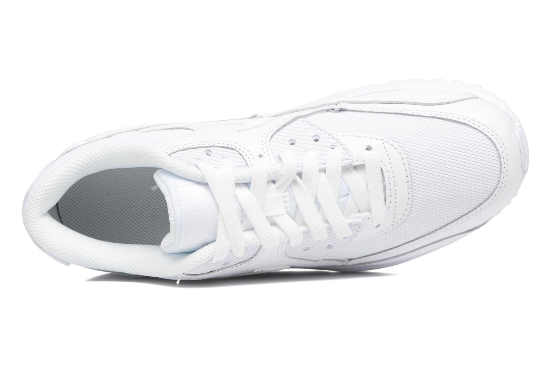 Sneaker Nike NIKE AIR MAX 90 MESH (GS) weiß ansicht von links