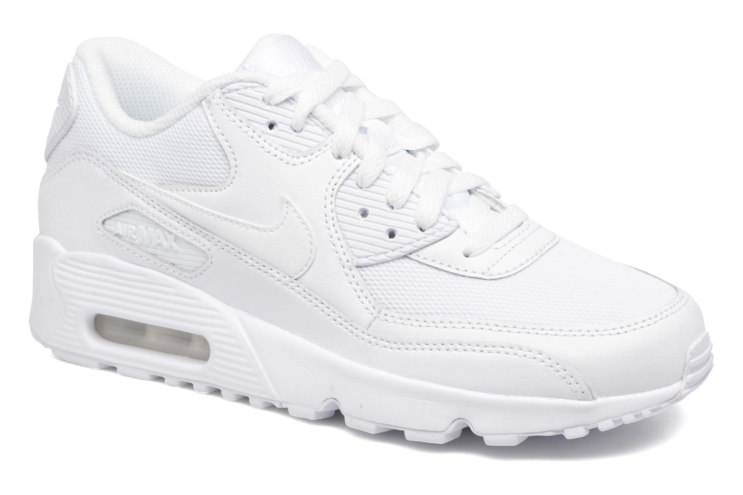 Baskets Nike NIKE AIR MAX 90 MESH (GS) Blanc vue détail/paire
