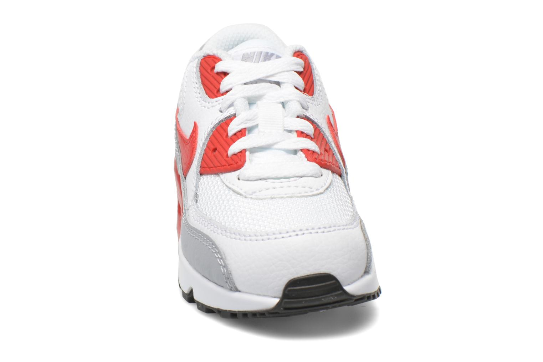 Sneaker Nike NIKE AIR MAX 90 MESH (PS) weiß schuhe getragen