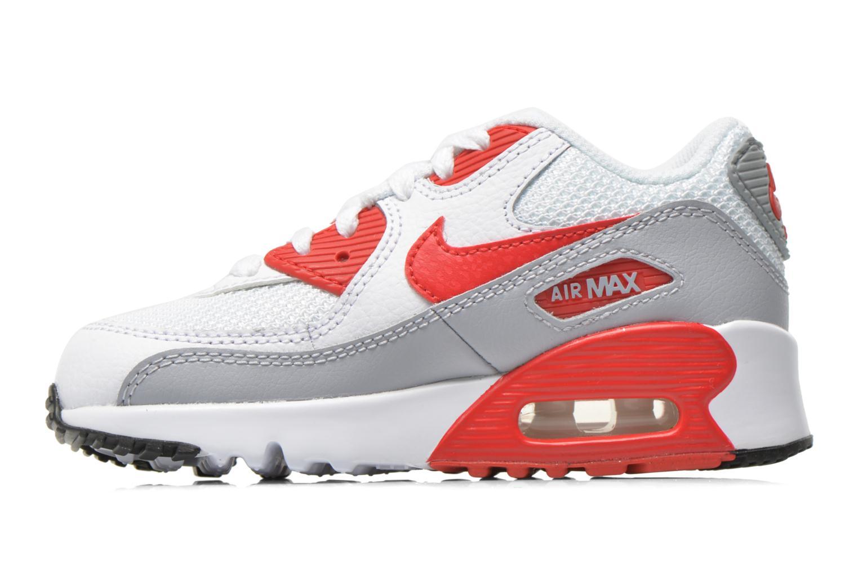 Sneakers Nike NIKE AIR MAX 90 MESH (PS) Wit voorkant