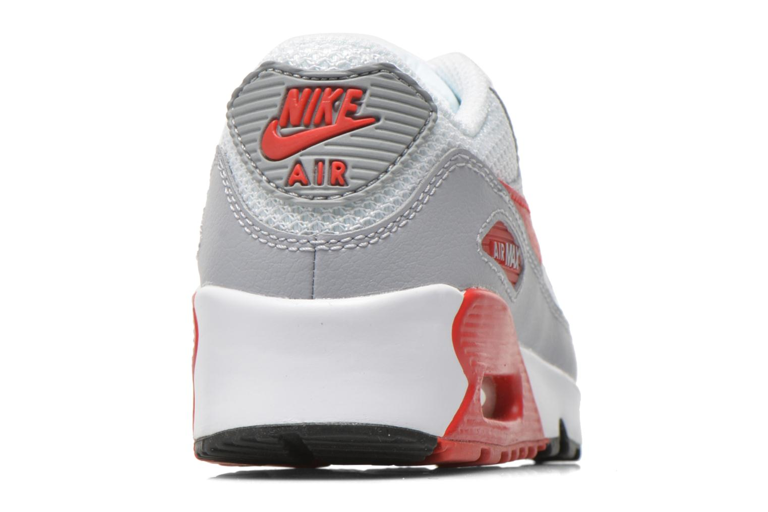 NIKE AIR MAX 90 MESH (PS) White Unvrsty Red-Wlf Gry-Blk
