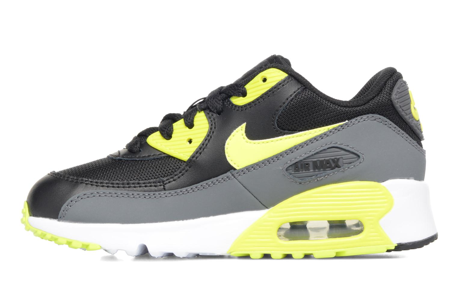 Baskets Nike NIKE AIR MAX 90 MESH (PS) Noir vue face