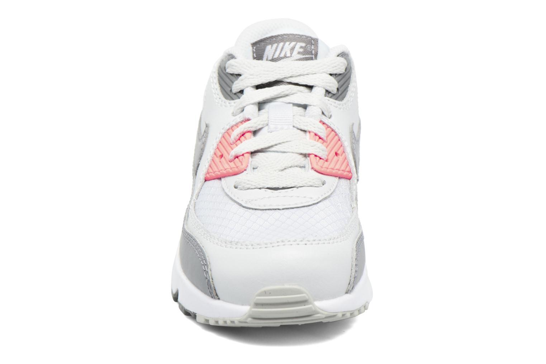 Sneaker Nike NIKE AIR MAX 90 MESH (PS) grau schuhe getragen