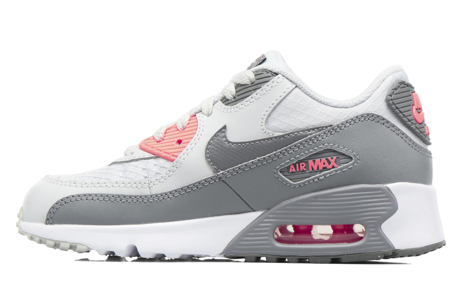 Trainers Nike NIKE AIR MAX 90 MESH (PS) Grey front view