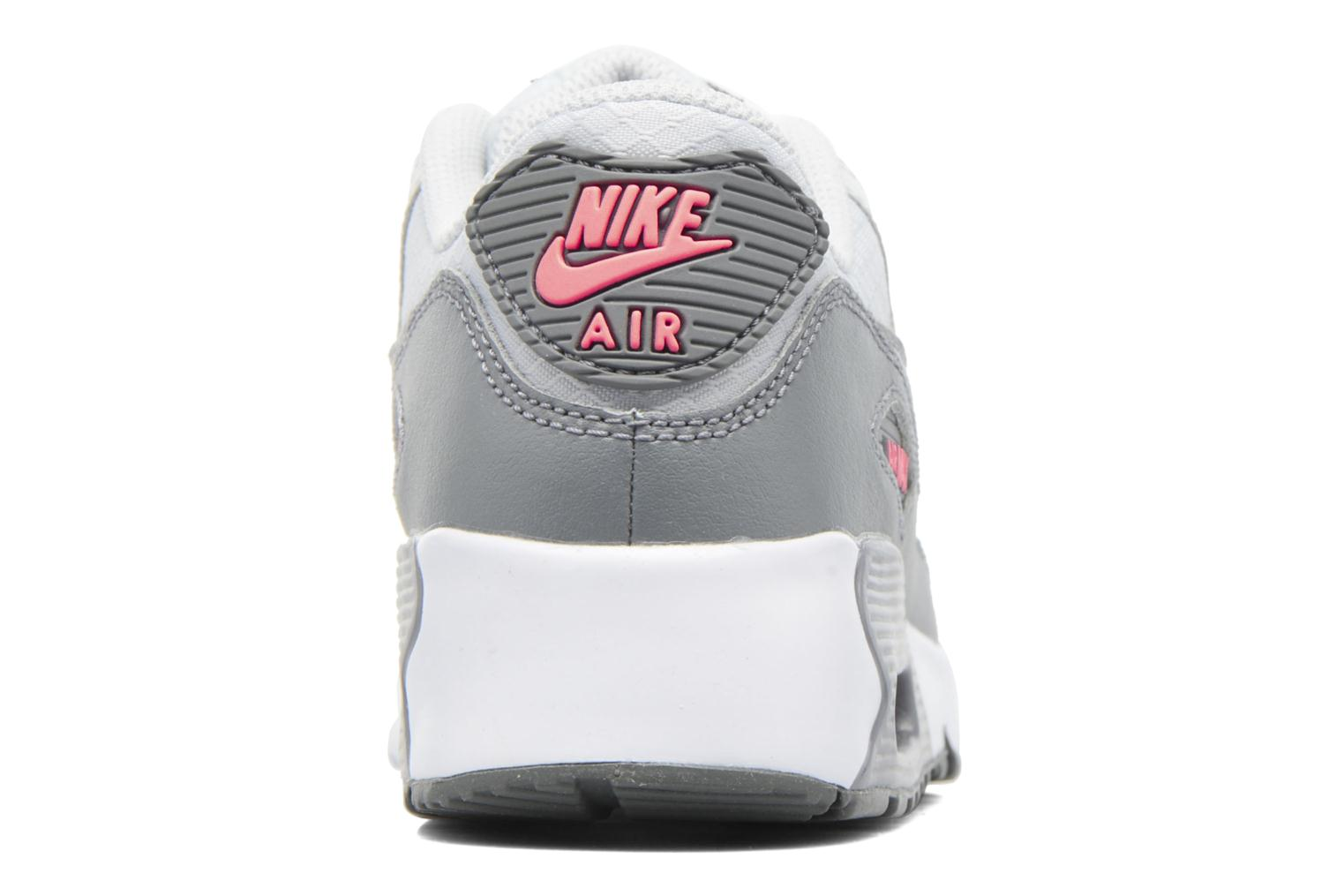 Trainers Nike NIKE AIR MAX 90 MESH (PS) Grey view from the right