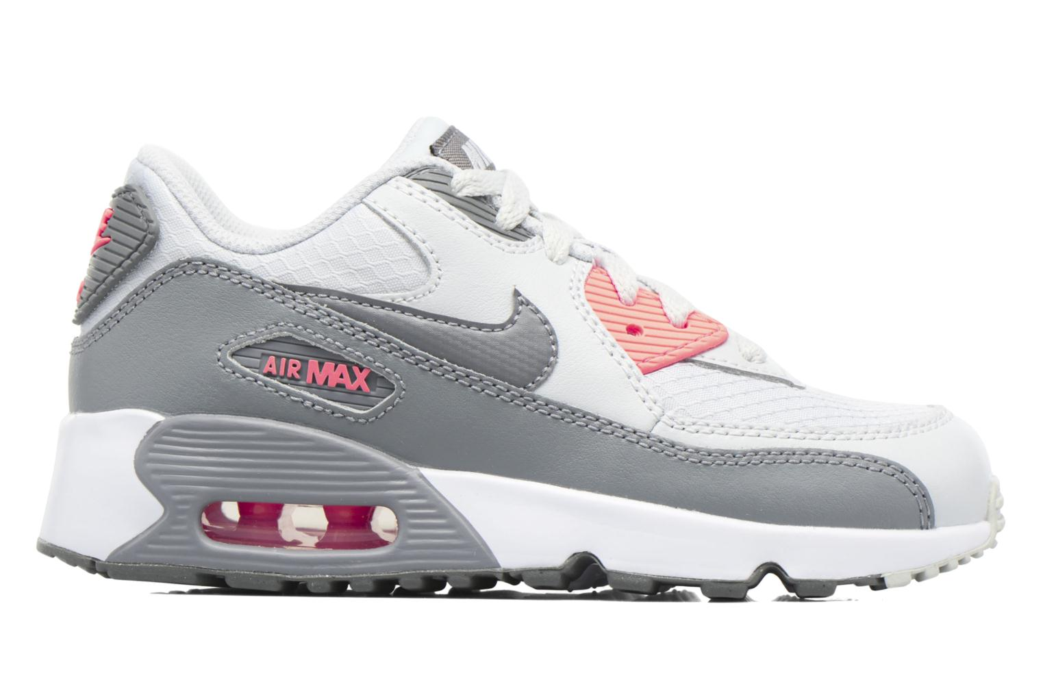 Trainers Nike NIKE AIR MAX 90 MESH (PS) Grey back view
