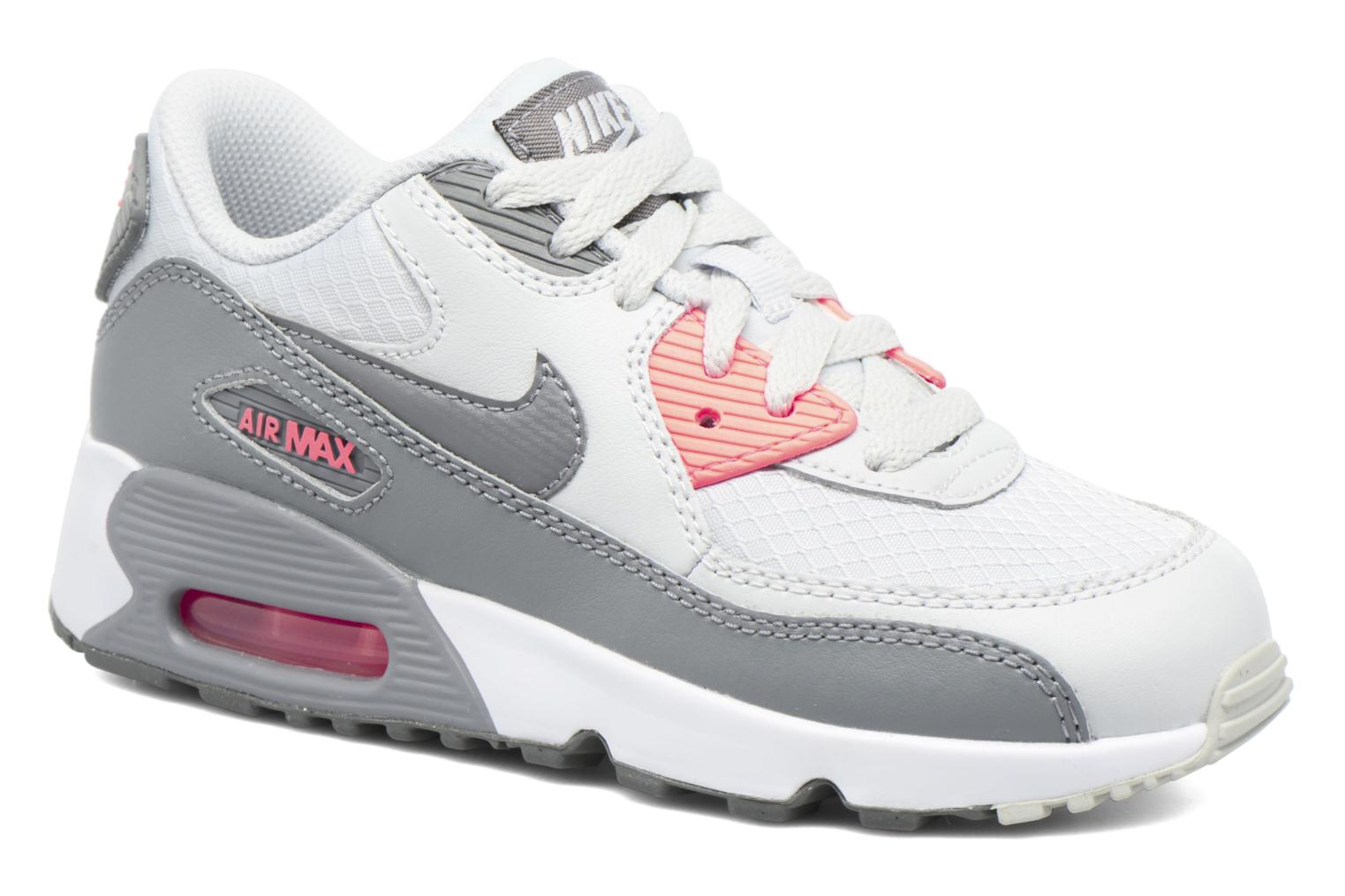 Trainers Nike NIKE AIR MAX 90 MESH (PS) Grey detailed view/ Pair view