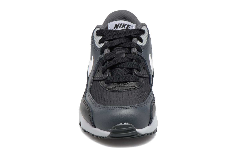 Baskets Nike NIKE AIR MAX 90 MESH (PS) Noir vue portées chaussures