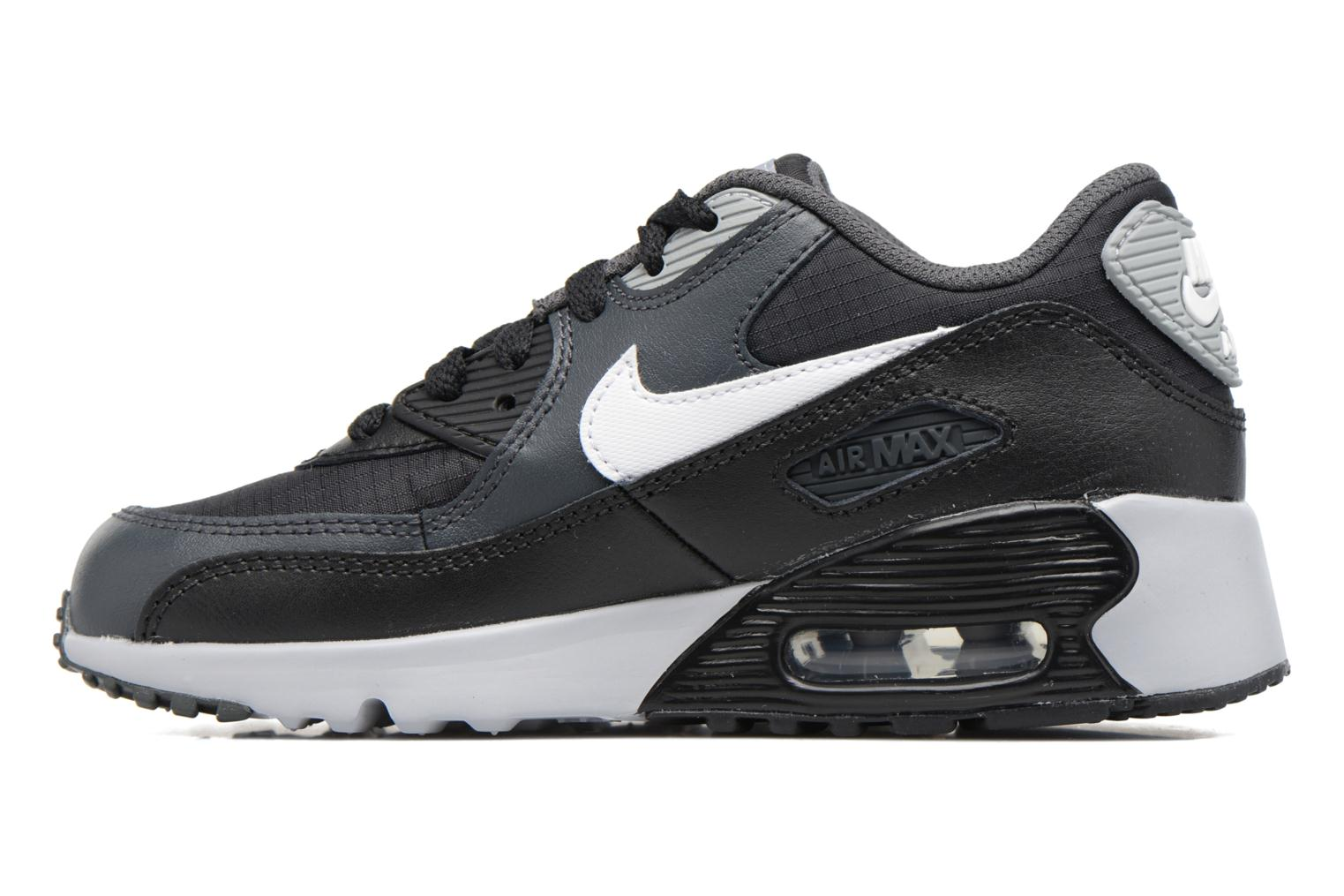 NIKE AIR MAX 90 MESH (PS) Black/White-Anthracite-Wolf Grey