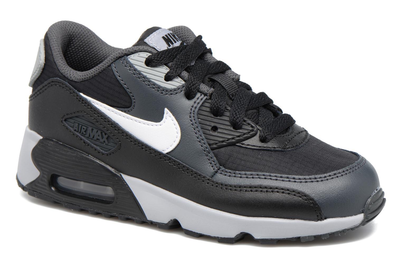 Baskets Nike NIKE AIR MAX 90 MESH (PS) Noir vue détail/paire