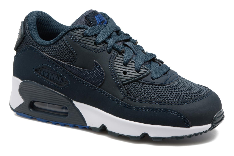 Baskets Nike NIKE AIR MAX 90 MESH (PS) Bleu vue détail/paire