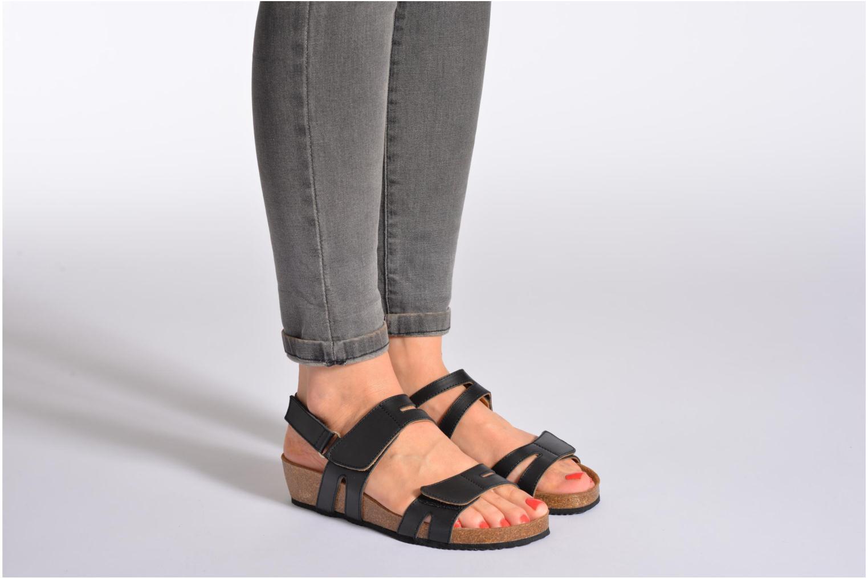 Sandales et nu-pieds Rondinaud Kolyma Blanc vue bas / vue portée sac