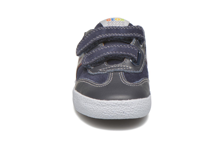 Sneaker Geox B KIWI B. C - SCAM.+TELA blau schuhe getragen
