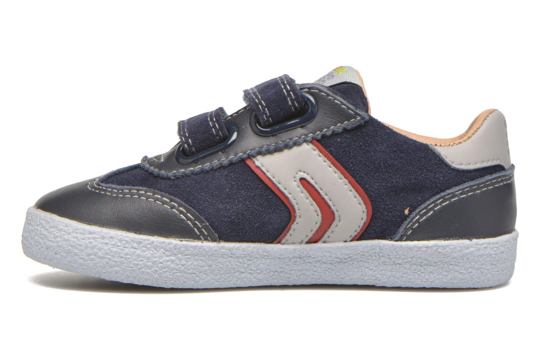 Sneaker Geox B KIWI B. C - SCAM.+TELA blau ansicht von vorne